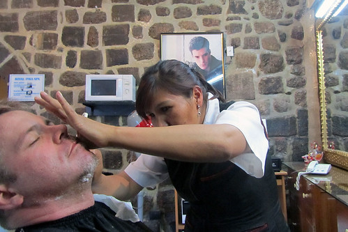 Getting a Shave in Cuzco