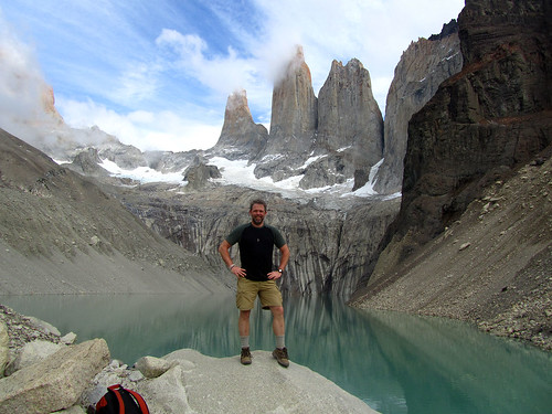 Standing before Torres del Paine