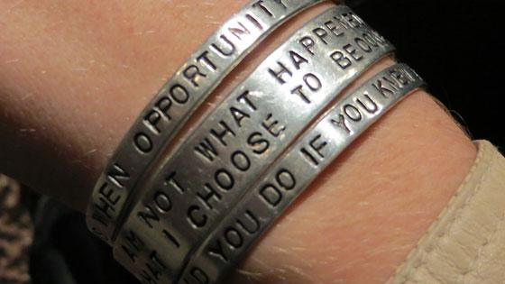 Kylie's bracelets, which I love