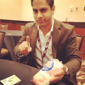 Ramit won't eat sno-balls, not even for money