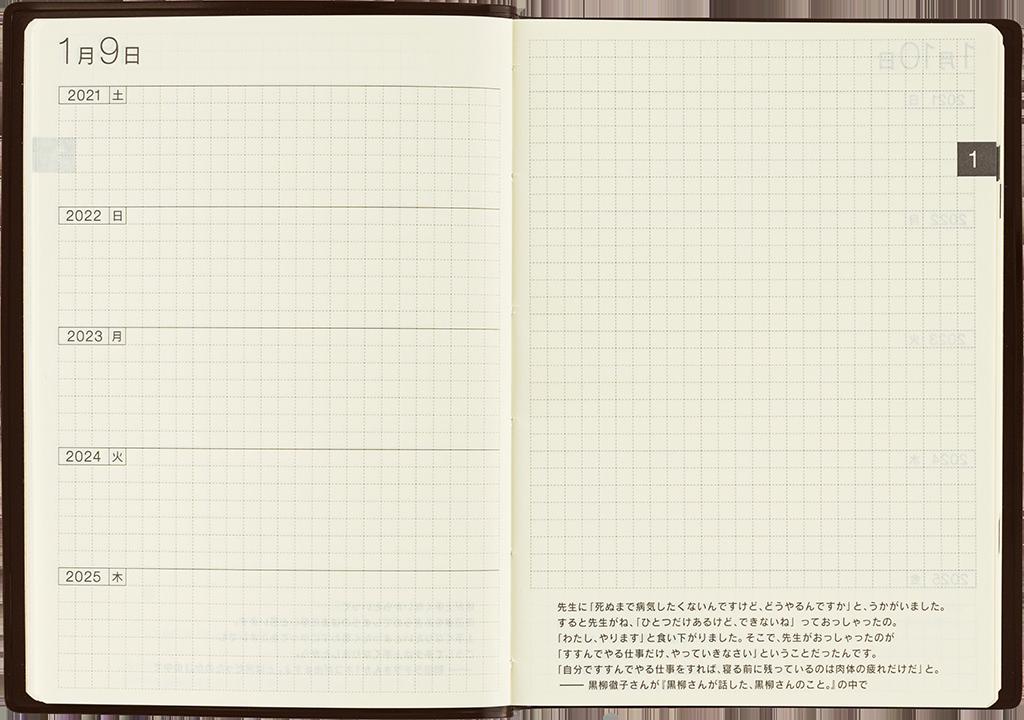 Hobinichi 5-year planner