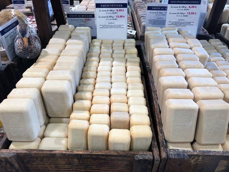 Fancy soap in rural France