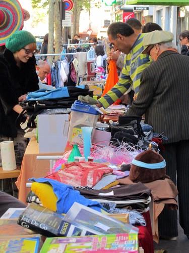 Neighborhood rummage sale - Paris