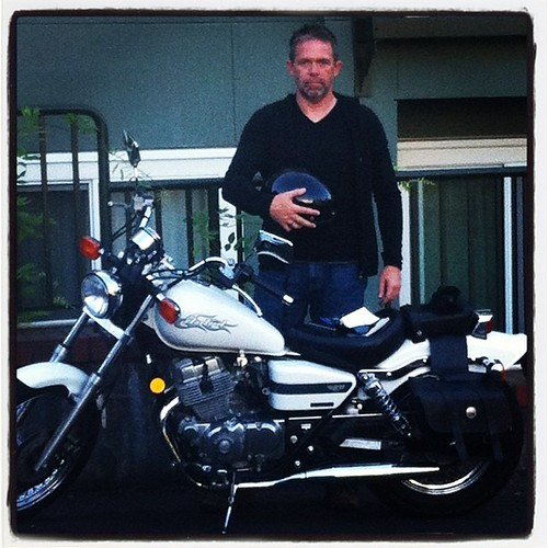 Guess who just rode home on his NEW MOTORCYCLE?!?