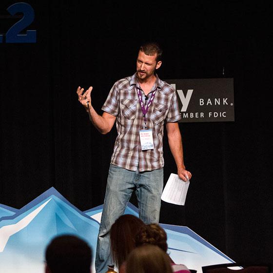 Mr. Money Mustache gives a presentation at FINCON 2012