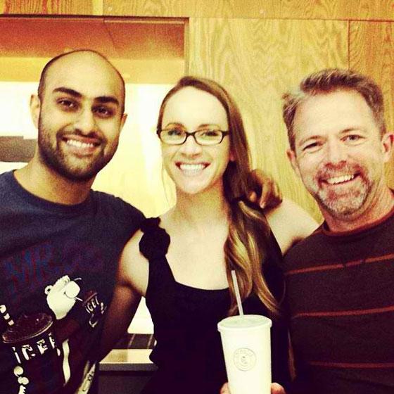 Maneesh, Sarah, and J.D.