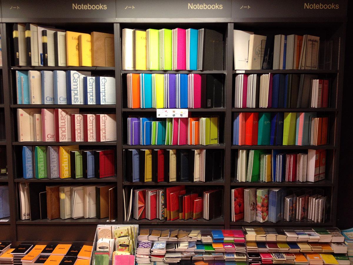 Notebooks at Kinokuniya in New York