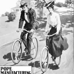 [ad for Pope bicycles]