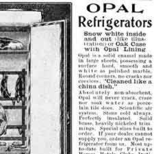 [ad for Opal Refrigerators]