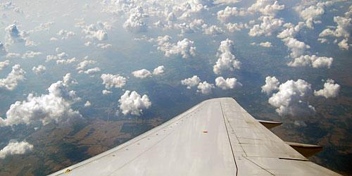 Flying into Ecuador