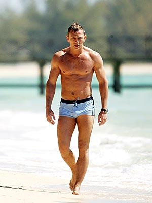 Daniel Craig in his fancy-pants swimsuit