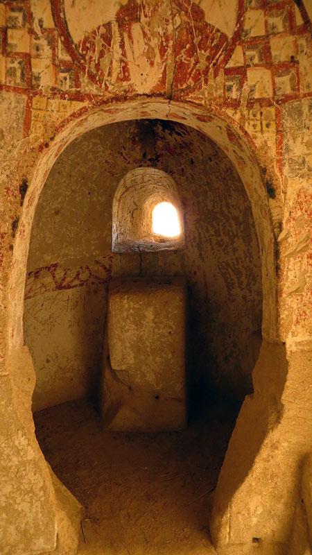 A cave church in Cappadocia