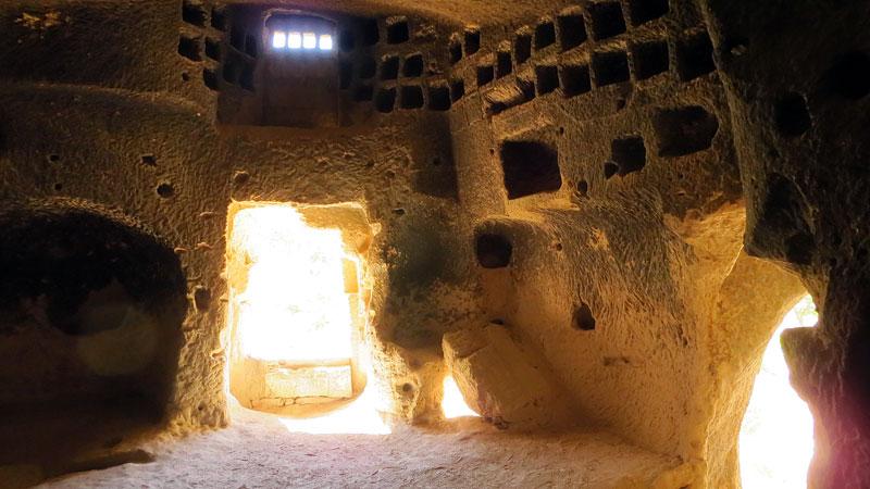 Inside a cave church