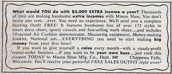 Mason Shoe ad