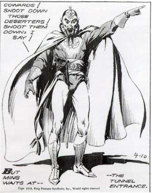 [panel from Flash Gordon comic]