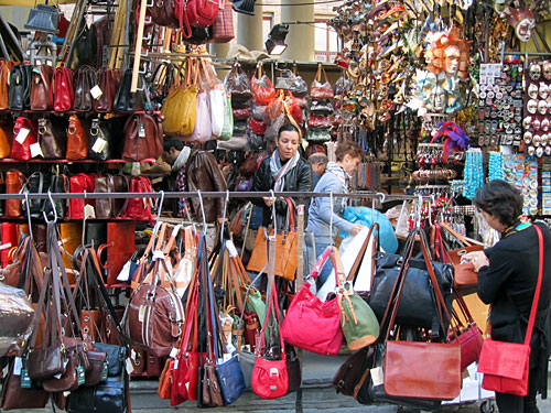 You can buy all sorts of leather goods in Florence