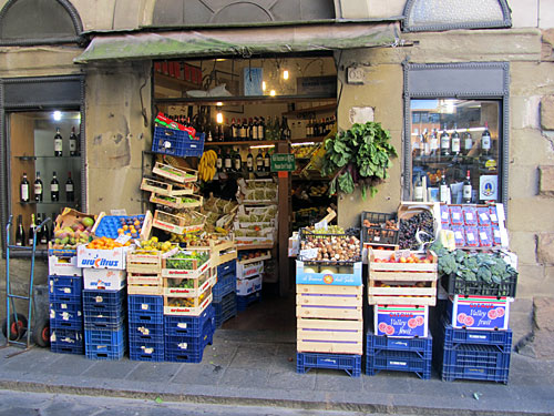 This tiny market was typical in Italy