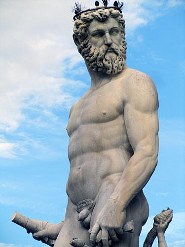 Neptune guards Piazza della Signoria