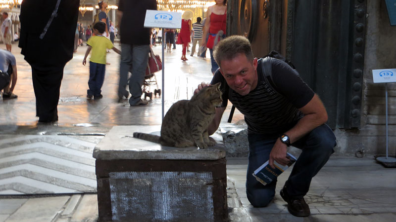 This cat was guarding the Imperial Gate at Haigia Sophia