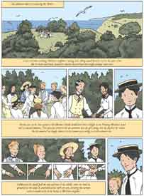 [page showing game of ferret with Albertine]