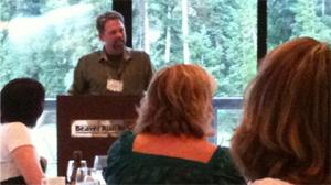 J.D. speaking at the Savvy Blogging Summit