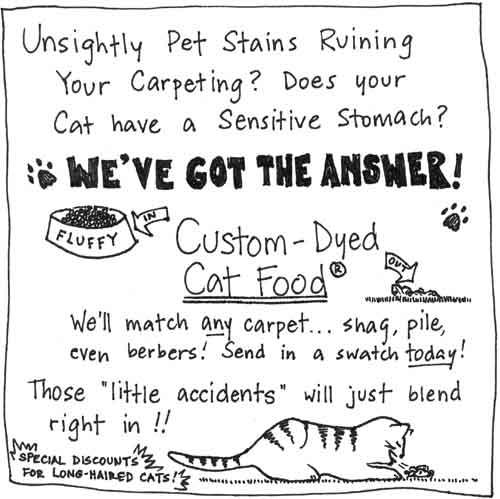 [a cartoon about cat vomit]