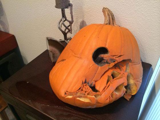 A melted pumpkin