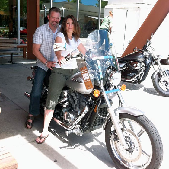 Shopping for motorcycles with Kim