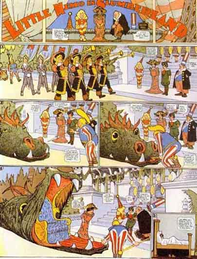 [a wonderful, but scary, page from Little Nemo]