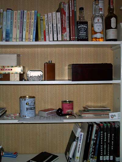 [photo of the nook, which is filled with great reading and great decadence]