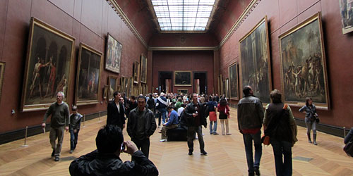 A gallery inside the Louvre