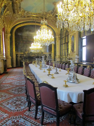 The apartments of Napoleon III in the Louvre