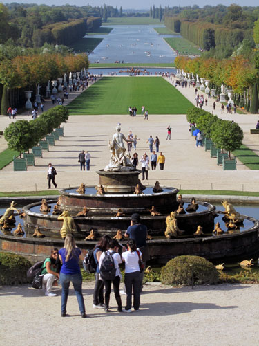 Looking down the park at Versailles toward the Grand Canal