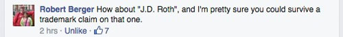 Rob's recommendation on Facebook