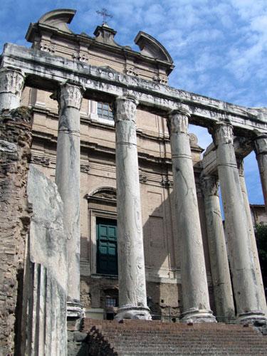 A ruin at the Roman Forum