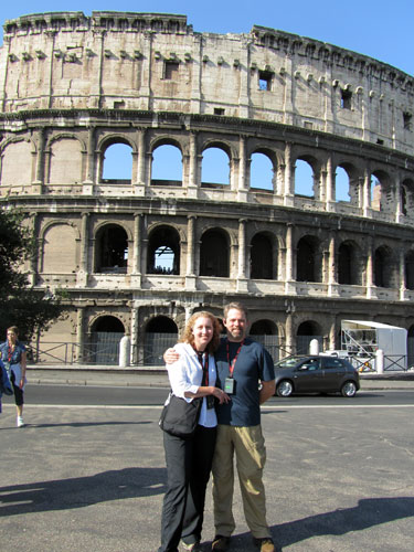 Kris and J.D., in front of the Colosseum