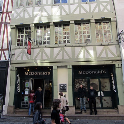 McDonald's in a 700-year-old building