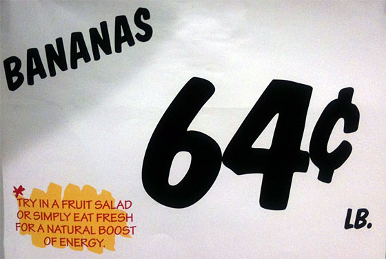 Serving suggestion for bananas