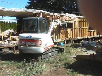 Demolitioning the trailer