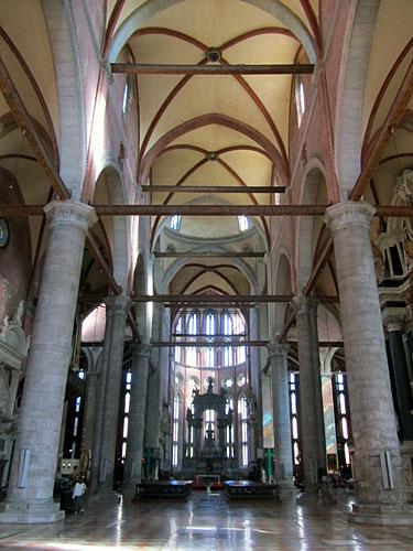 Interior of Santi Giovanni e Paolo