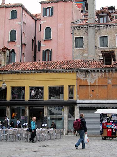 A view of the Pensione Guerrato